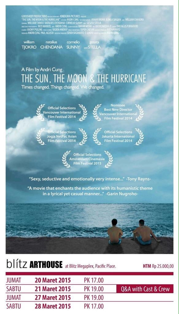 FIlm The Sun, The Moon & The Hurricane di Blitz Arthouse